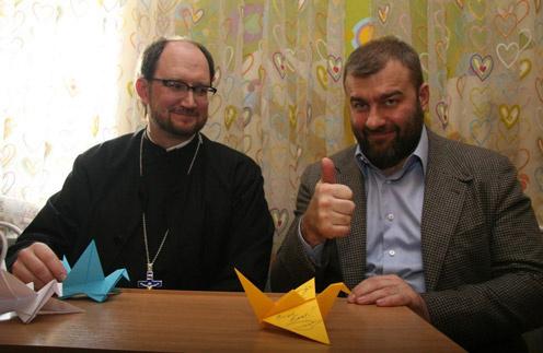 Михаил Пореченков и протоиерей Александр Ткаченко
