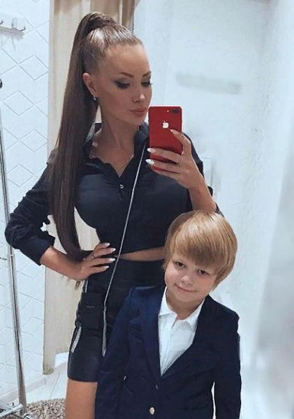 Евгения с сыном Даниэлем