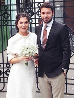 Лаура Джугелия с женихом Михаилом