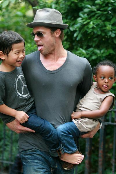 Брэд Питт очень любит детей