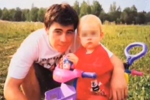 Сергей Бодров и маленький сын Саша