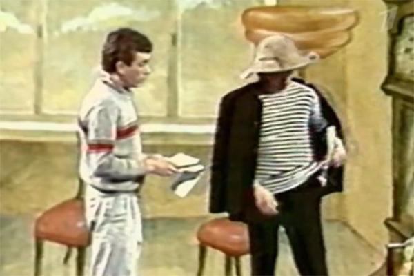В передаче показали архивную запись «Утренней почты» с Юрием Николаевым (на фото слева) и Сергеем Шустицким