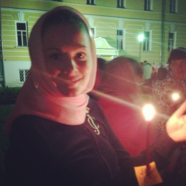 Мария Кожевникова в Свято-Троицкой Сергиевой Лавре