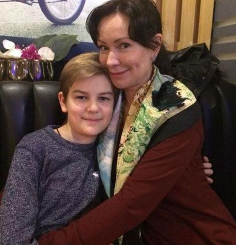 Нонна Гришаева с сыном Ильей