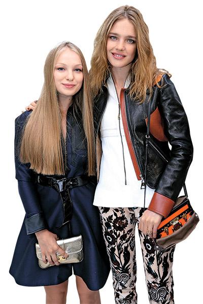 Наталья Водянова с Кристиной