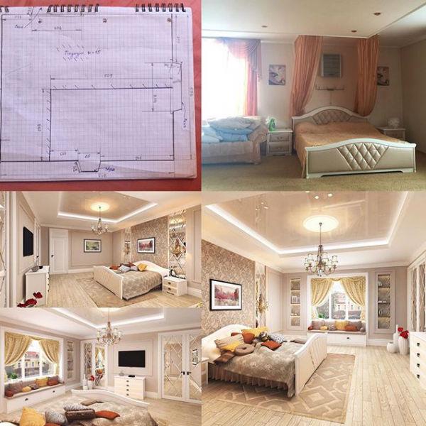 Ирина планирует сделать спальню, гардеробную и кабинет