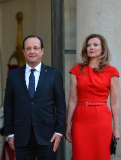 Франсуа Олланд и Валери Триервейлер