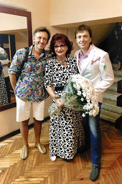 С Сергеем Дроботенко и Геннадием Ветровым артистка дружит больше 15 лет