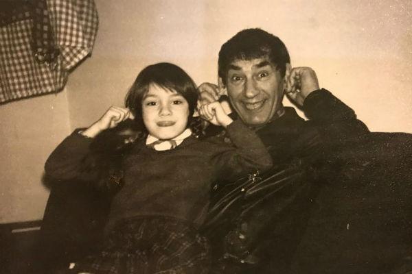 Детское фото Карины со Спартаком Мишулиным