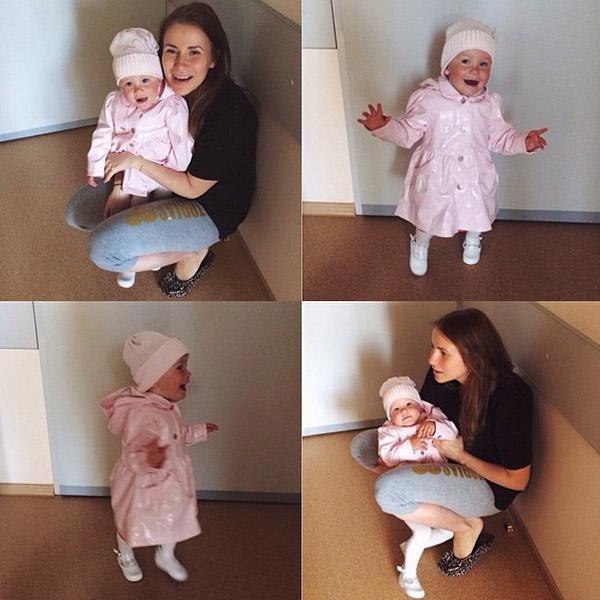 Малышка Маргоша навестила маму и младшую сестренку в роддоме