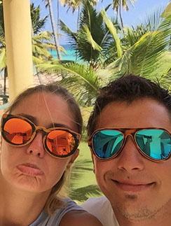 Агата Муцениеце и Павел Прилучный весело проводили время в Доминикане