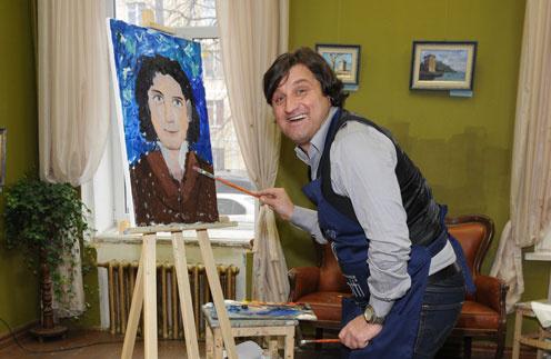 Отар Кушанашвили создал в студии веселую и непринужденную атмосферу