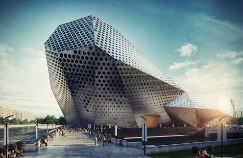 Сооружение в виде гигантского многоугольника вырастет на Васильевском острове в Питере
