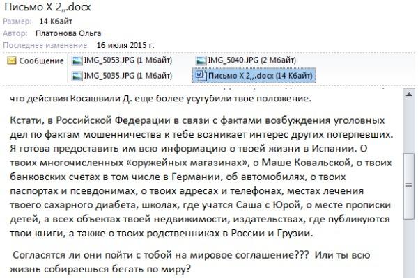 Ольга Платонова угрожала детям Андрея и Марии Круз