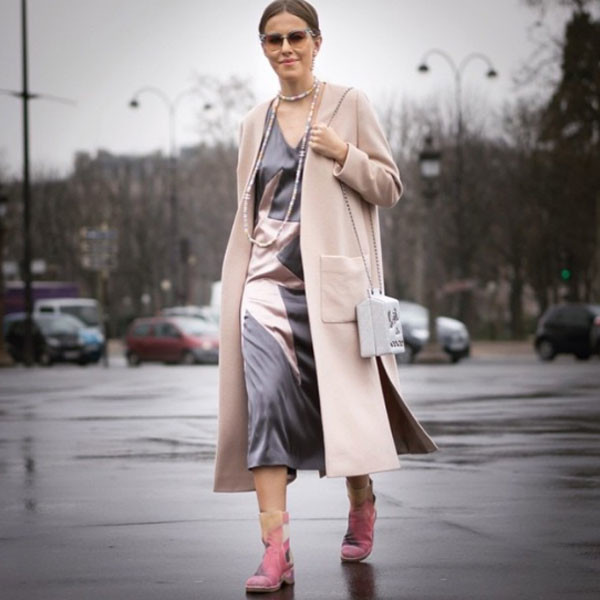 Ксения в платье Alarusse после показа Chanel