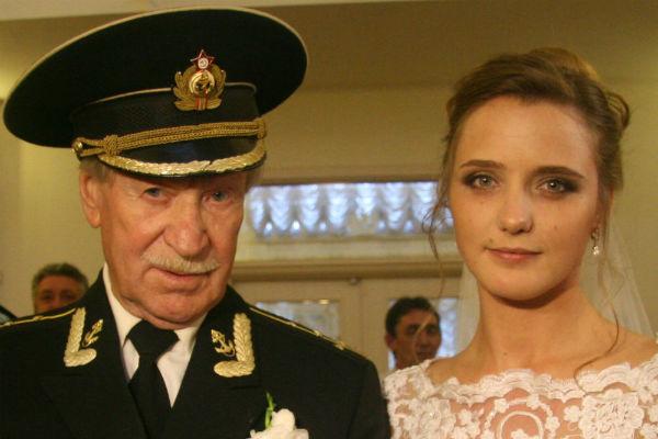 Иван Краско с молодой женой Натальей
