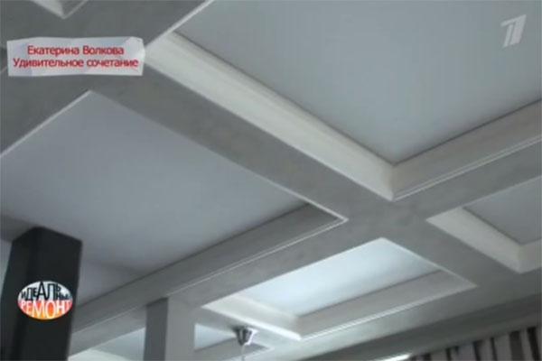 Кессонный потолок с нишами - примета классического стиля
