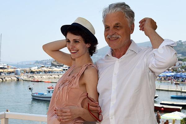 Микеле Плачидо с женой Федерикой
