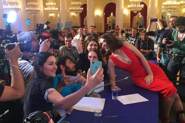Сегодня Наталия побывала на открытии пресс-центра Чемпионата мира