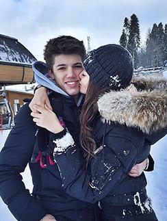 Новогодние каникулы  Алеся и Никита провели  в  Сочи