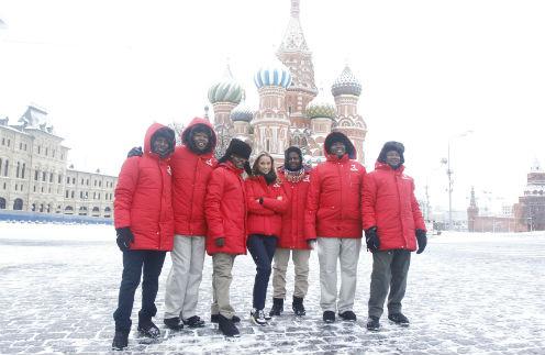 Ольга Мичи познакомила масаев с российской столицей. Третьяковка им понравилась, а вот от русской зимы африканцы ожидали большего