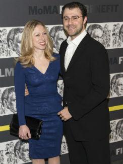 Челси Клинтон с мужем Марком Мезвински