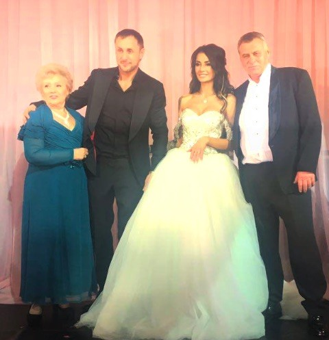 Александр Липовой и Александра Кабаева с родителями