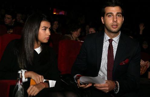 Иван Ургант с приемной дочерью Эрикой