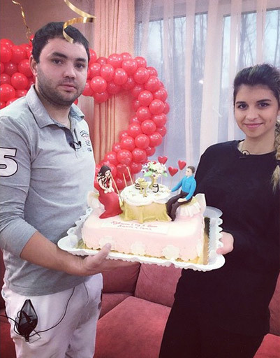Торт на годовщину свадьбы с ребенком