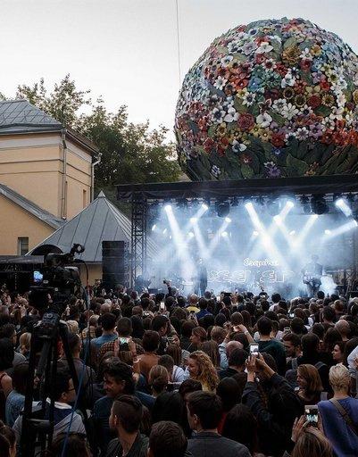 Музыкальная сцена фестиваля