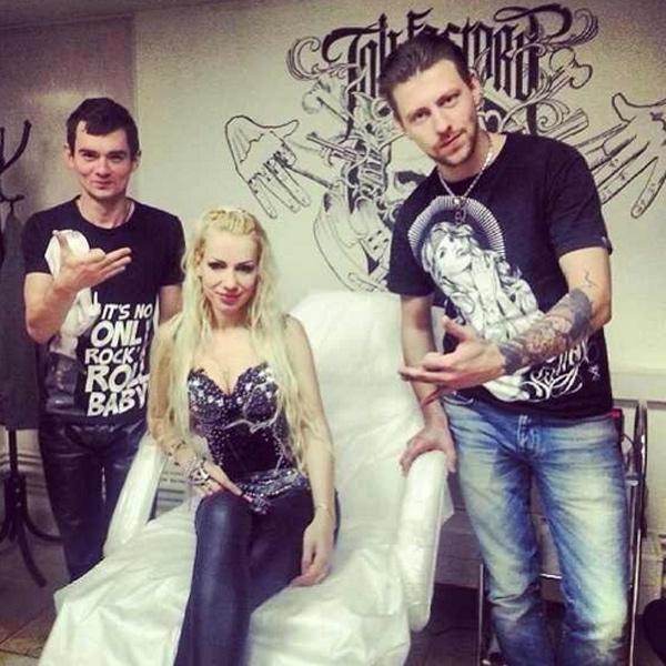 Екатерина Король и Венцеслав Венгржановский в тату-салоне
