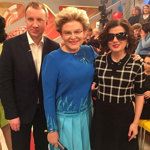 На съемках с Еленой Малышевой