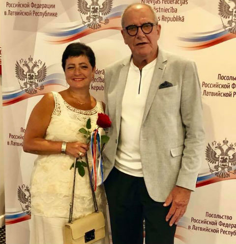 Эммануил Виторган с супругой Ириной