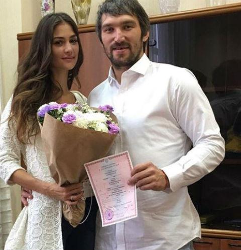 Настасия Шубская и Александр Овечкин