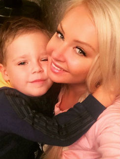 Дарья Пынзарь с сыном Артемом
