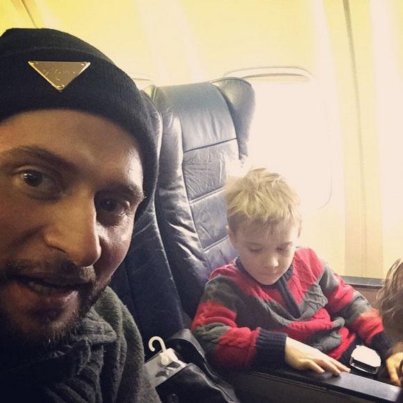 Ираклий с сыновьями на пути к Тбилиси