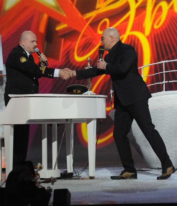 Уолтер с ведущим проекта Дмитрием Нагиевым
