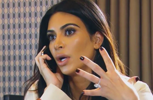 Ким Кардашьян поспешила сообщить новость мужу