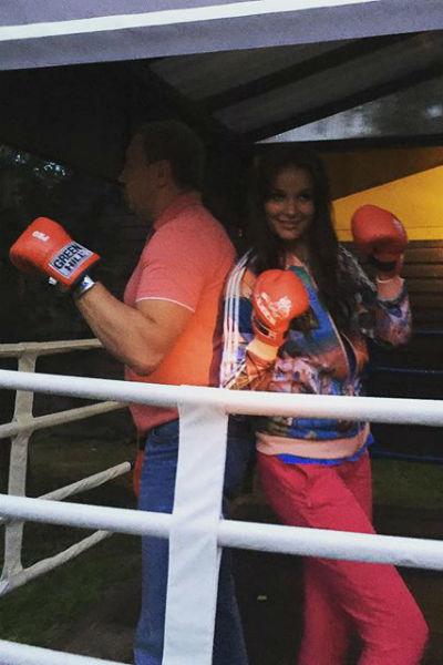 Оксана Федорова с мужем