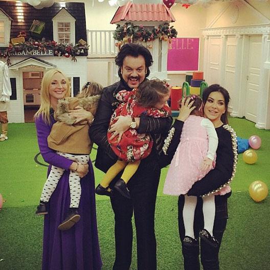 Кристина Орбакайте, Филипп Киркоров и Ани Лорак с дочками на праздновании третьего дня рождения Аллы-Виктории