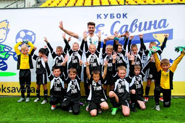 Будущим футбольным асам пока девять лет