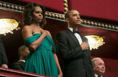 Мишель Обама и Барак Обама