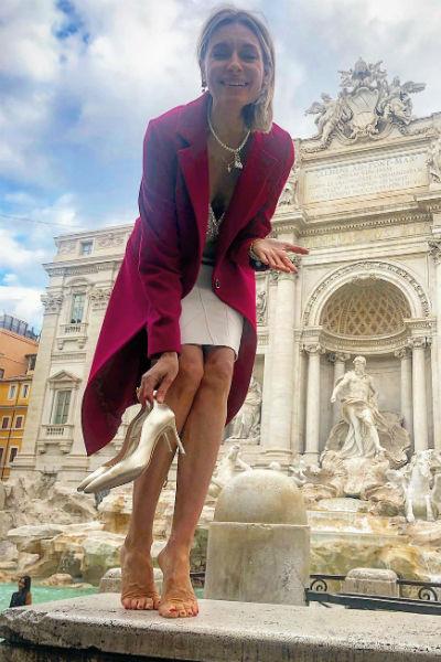 Актриса отдыхает в Италии