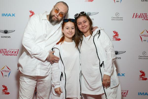 Борис Ливанов с дочерью Евой и Марией Голубкиной