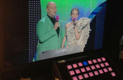 Ведущие церемонии Потап и Ксения Собчак