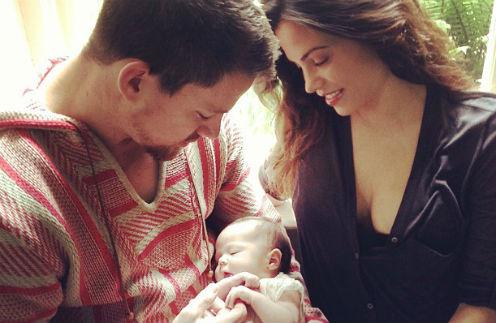 Ченнинг Татум и Дженна Деван-Татум с дочкой Эверли