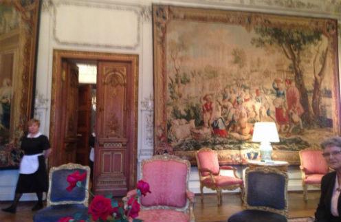 Интерьер одного из помещений резиденции президента Франции