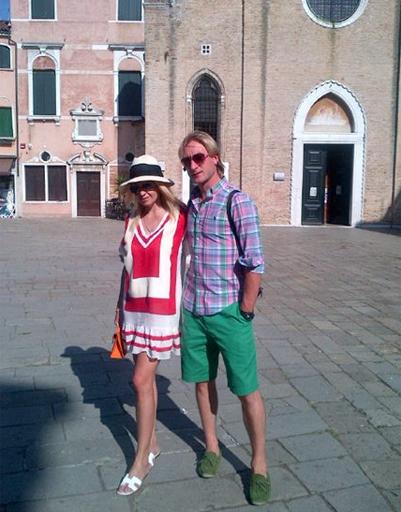 Яна Рудковская и Евгений Плющенко в Венеции