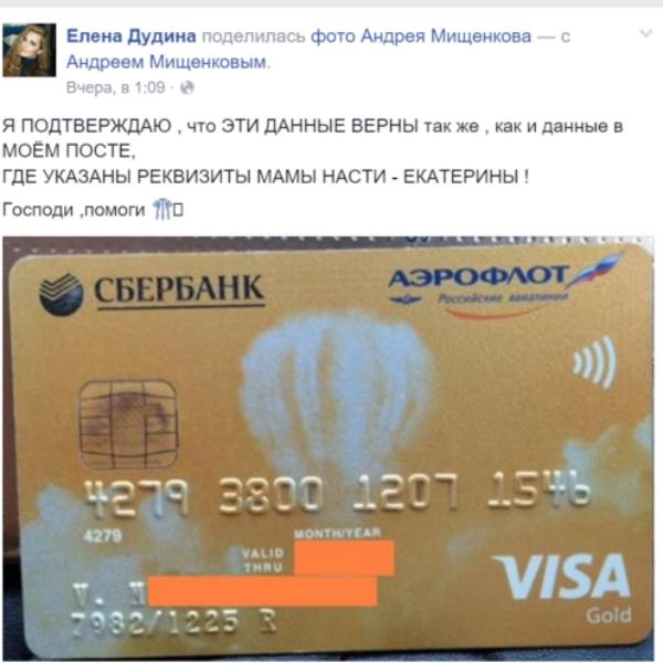 Актриса Елена Дудина подтвердила подлинность сведений о банковском счете семьи