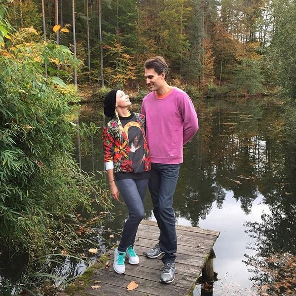 Кристина с мужем Михаилом на отдыхе в Австрии